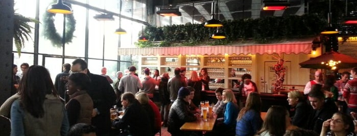 The Biergarten at The Standard is one of Best Places in NYC.