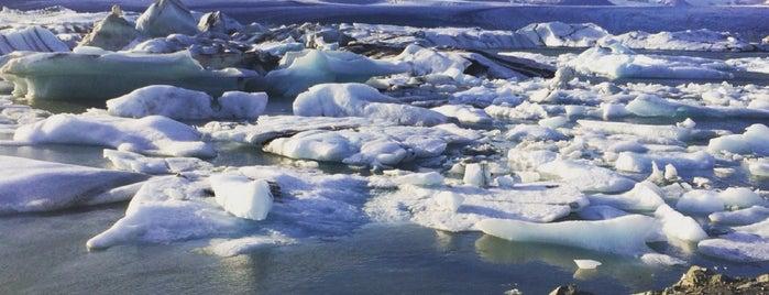 Jökulsárlón (Glacier Lagoon) is one of Lugares favoritos de David.