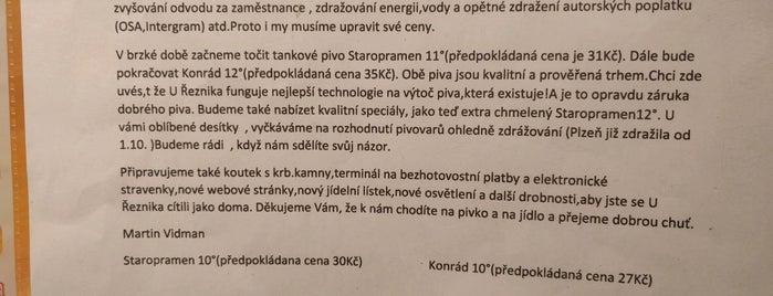 U Řezníka is one of Free WiFi v Praze.