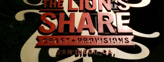 The Lion's Share is one of San Diego.