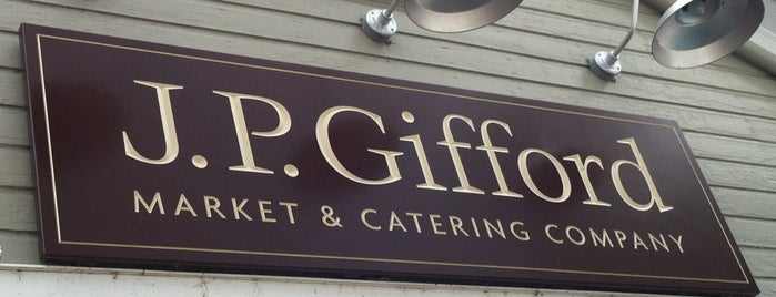J. P. Gifford Market & Catering is one of สถานที่ที่ Charlie ถูกใจ.