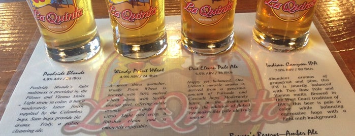La Quinta Brewing Co. is one of Palm Springs.