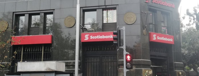 Scotiabank is one of Santiago City.