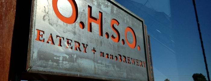O.H.S.O. Eatery + nanoBrewery is one of Valley Restaurants.
