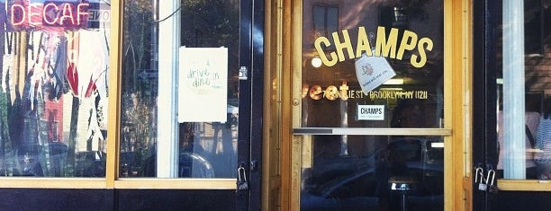 Champs Diner is one of NYC eats.