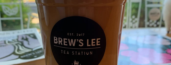 Brew's Lee Tea is one of SATX TO DO.