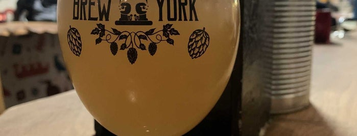 Brew York Craft Brewery & Tap Room is one of Tempat yang Disukai Carl.