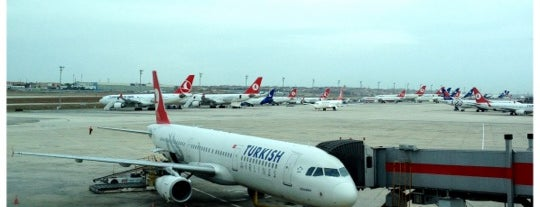 Gate 206 is one of İstanbul Atatürk Airport.