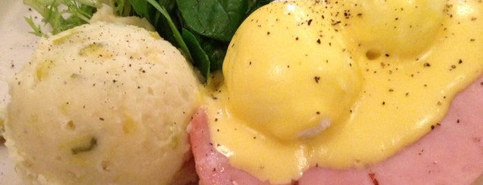 Petite Abeille is one of NYC's Best Eggs Benedict Dishes.