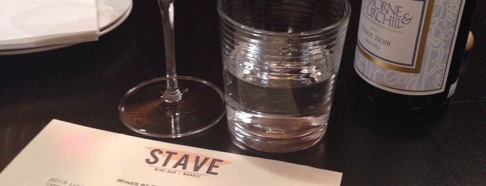 Stave Wine Bar & Market is one of BloNo Eats.