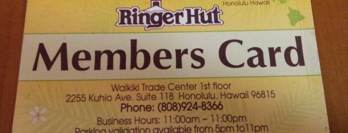 Ringer Hut is one of Oahu.