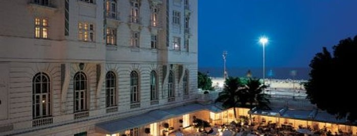 Belmond Copacabana Palace is one of Hoteis Brasil.