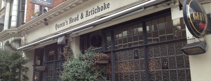 The Queen's Head & Artichoke is one of Locais curtidos por Justin.