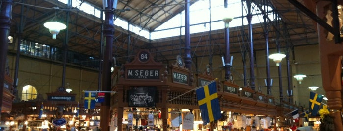 Östermalms Saluhall is one of Stocholm Yemek.