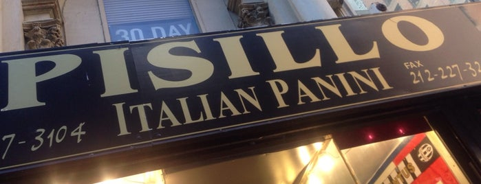 Pisillo Italian Panini is one of NYC Restaurants To Visit.