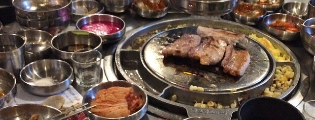 강호동 백정 is one of Best 200 Spots to Eat in Manhattan.