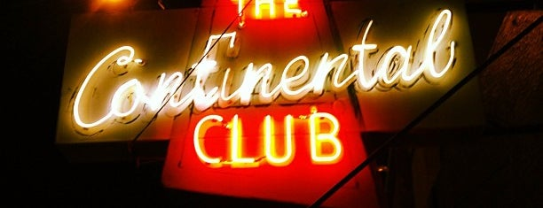 The Continental Club is one of Austin Explorations.