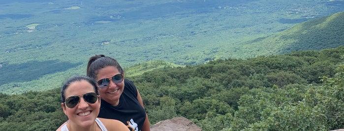 overlook mountain summit is one of Woodstock.