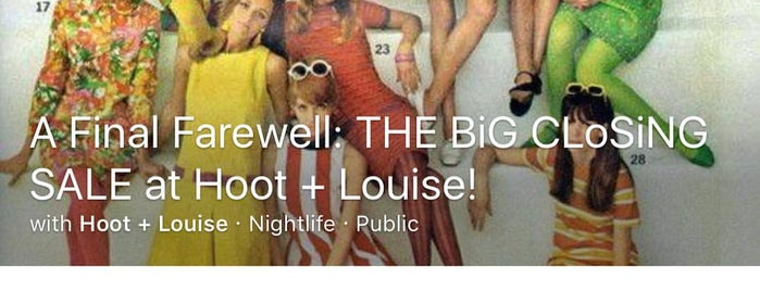 Hoot + Louise is one of Posti salvati di Jacque.