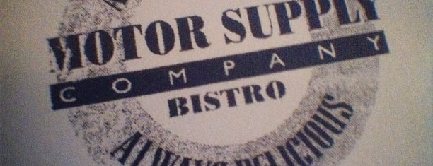 Motor Supply Co. Bistro is one of My Happy Place(s).
