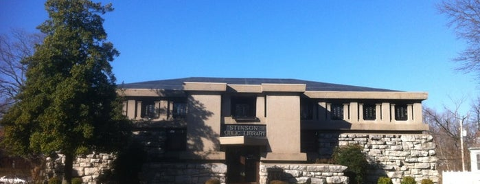 Stinson Memorial Library is one of Illinois's Greatest Places AIA.