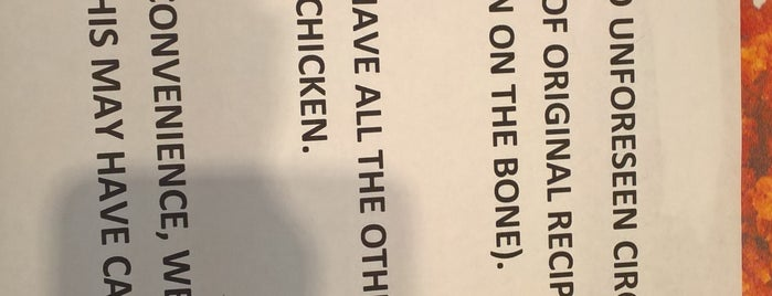 KFC is one of Orte, die Carl gefallen.