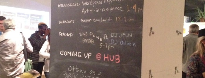 HubOttawa is one of Coworking Spaces (Ontario).