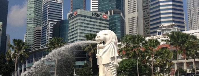The Merlion is one of #myhints4Singapore.