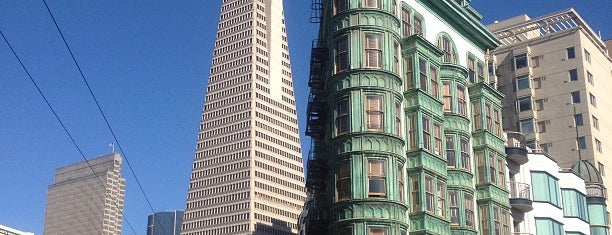 Columbus Tower (Sentinel Building) is one of San Francisco Bay.