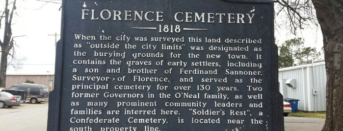 Florence Cemetery is one of Florida, Georgia, Alabama.