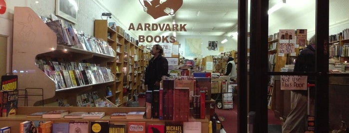 Aardvark Books is one of An Arty Elitist's Guide to San Francisco.