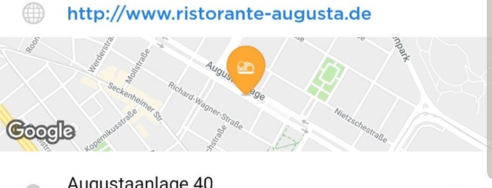 Ristorante Augusta is one of My faves in Mannheim.