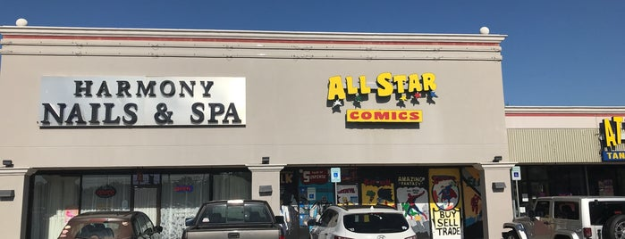 All Star Comics is one of Oklahoma.