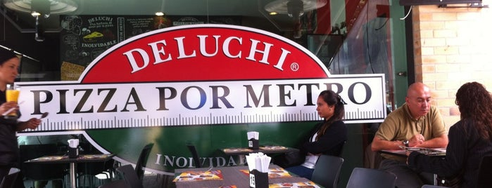 Deluchi Pizza por Metro is one of Lugares favoritos de Sabrina.