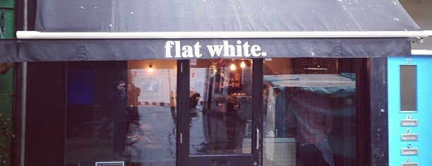 Flat White is one of Great Independent Coffee Shops in London.