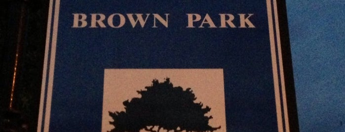 Brown Park is one of Justin's Liked Places.