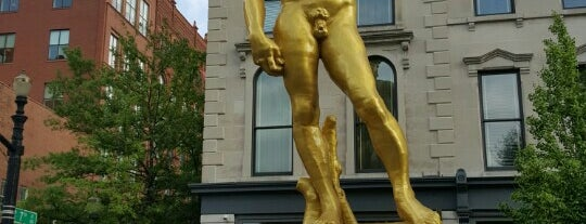 Gold Statue of David is one of Louisville.
