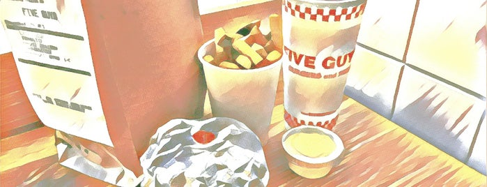 Five Guys is one of Lieux qui ont plu à Thienpont.