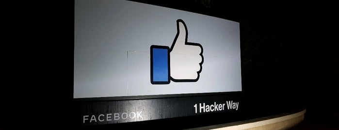 Facebook Sign is one of LA & SF.