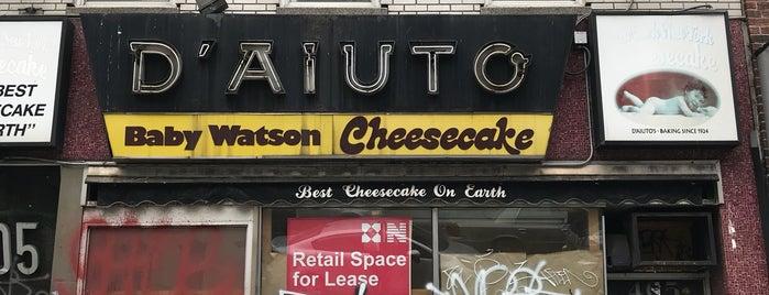 D'Aiuto's Pastry is one of NYC Treats.
