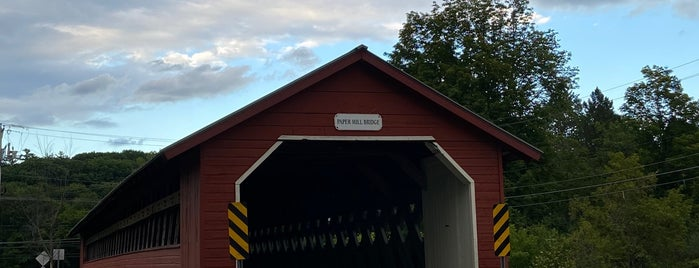 Paper Mill Covered Bridge is one of Vermont's Covered Bridges.