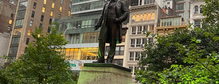 Statue of Roscoe Conkling is one of Hidden History NYC.