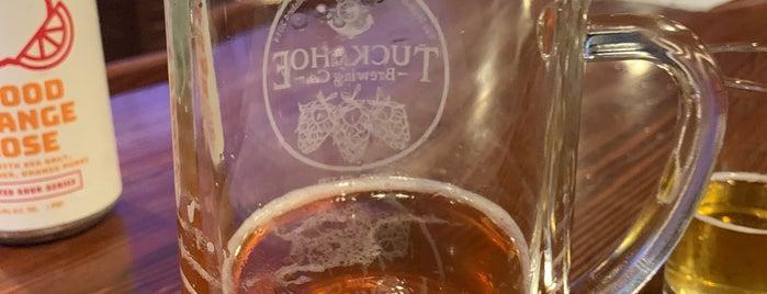 Tuckahoe Brewing Co. is one of Vineyards, Breweries, Beer Gardens.