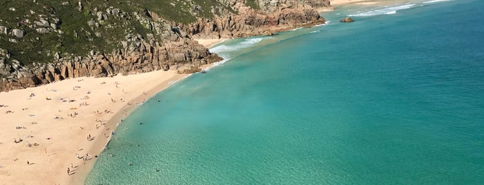 Porthcurno Beach is one of Cornwall.
