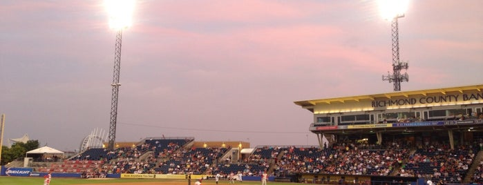 Richmond County Bank Ballpark is one of NYC.