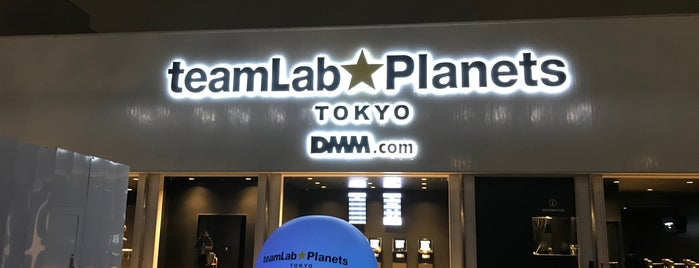 teamLab Planets is one of Tokyo.