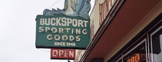 Bucksport Sporting Goods is one of Northern CALIFORNIA: Vintage Signs.