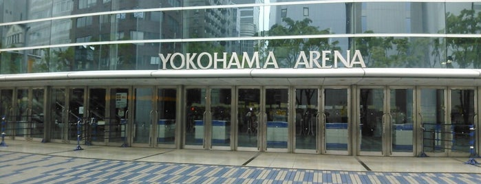 Yokohama Arena is one of Lugares favoritos de Hideo.