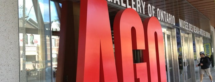Art Gallery of Ontario is one of T.O..