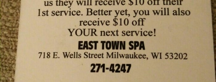 East Town Spa is one of Locais curtidos por Vicky.